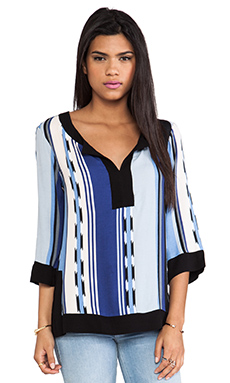 Ella Moss Surfer Stripe Tunic in Ocean