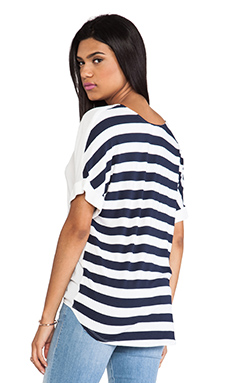 Ella Moss Isla Stripe Back Tee in White