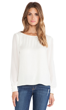 Ella Moss Stella Blouse in Cream