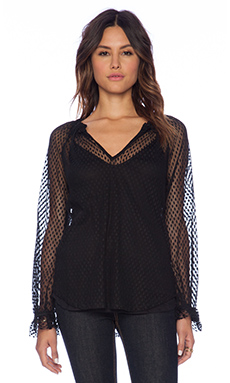 Ella Moss Nikita Lace Blouse in Black