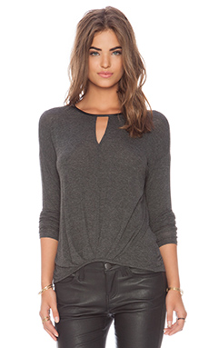 Ella Moss Icon Long Sleeve Top in Charcoal
