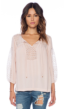 Ella Moss Emiline Blouse in Powder