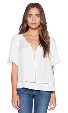 Ella Moss Stella Cutout Top in White