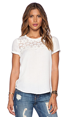 Ella Moss Joy Tee in White