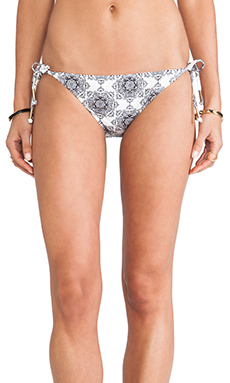 Ella Moss Tie Side Bikini Bottom in Cream