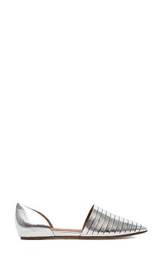 Ella Moss Serena D'Orsay Flats in Silver