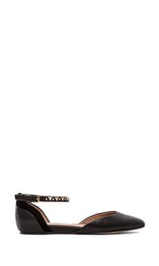Ella Moss Savana Ankle Strap Flats in Black