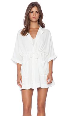 ELLIATT Through the Lens Shirt Dress in White