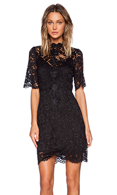 ELLIATT Range Lace Dress in Black