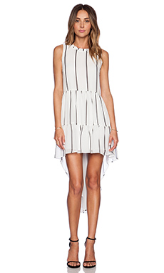 ELLIATT Dawn Tunic Dress in White Stripe