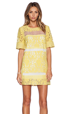 ELLIATT Eccentric Lace Dress in Citrus