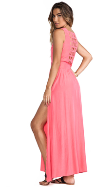 ELLIATT Santiago Maxi Dress in Melon Glow
