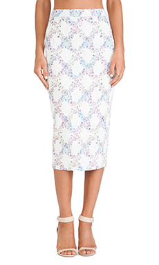 ELLIATT Escape Skirt in Floral Check
