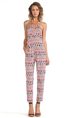 ELLIATT Dream Catcher Playsuit in Pink Geo Print