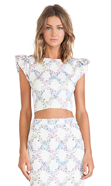 ELLIATT Escape Top in Floral Check