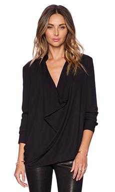 ELLIATT Gazing Drape Shirt in Black