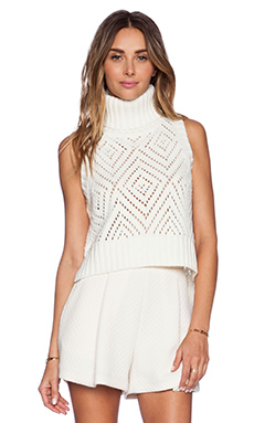 ELLIATT Wisdom Knit Top in Ivory