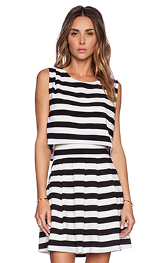 ELLIATT Eclipse Top in Black & White Stripe