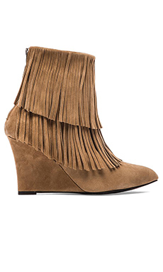elysewalker los angeles Suede Fringe Bootie in Tan Suede