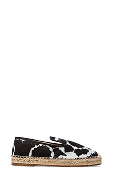 elysewalker los angeles Dee Tye Dye Espadrille in Black & Grey