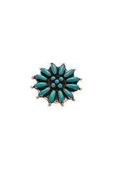 Emerald Duv Columbia Ring in Silver & Turquoise