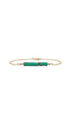 Emerald Duv Danty Bracelet in Gold & Turquoise