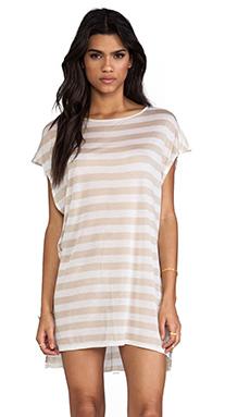 Enza Costa Sleeveless Dress in Quartz & White
