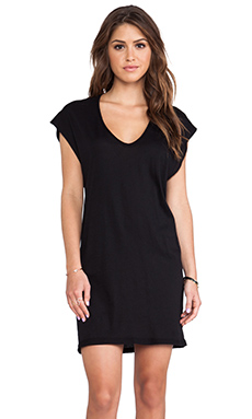 Enza Costa Tissue Jersey Sheath Tunic in Black