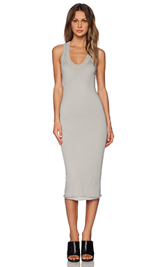 Enza Costa Bold Doubled Racer Dress in Grigio