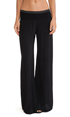 Enza Costa Boot Leg Pant in Black