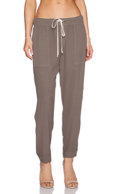 Enza Costa Easy Pant in Army
