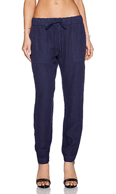 Enza Costa Linen Pant in Washed Atlantic