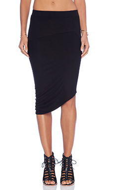 Enza Costa Drape Skirt in Black