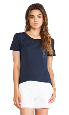 Enza Costa Tissue Jersey Loose Crew in Indigo