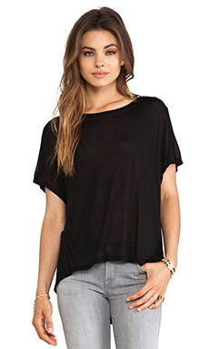 Enza Costa Sleeveless Drape Top in Black