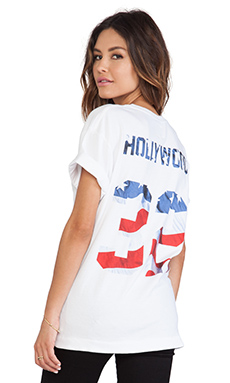 Eleven Paris Hollywood City Number Tee in White