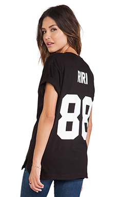 Eleven Paris Riri Back Number Tee in Black