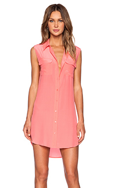 Equipment Sleeveless Slim Signature Dress in Sunkissed