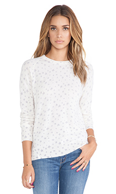 Equipment Sloane Star Spray Crewneck Sweater in Ivory Multi