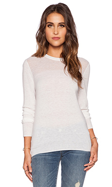 Equipment Shane Mesh Stitch Crew Neck in Ivory