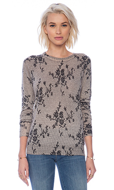 Equipment Sloane Floral Lace Crew Neck in Nude Multi