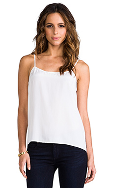 Equipment Cara Vintage Wash Cami in Bright White