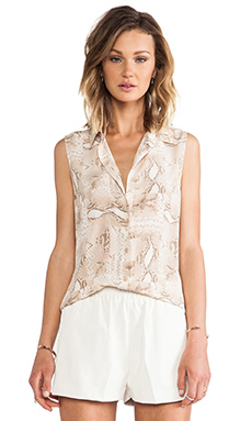 Equipment Colleen Sleeveless Blouse in Nude