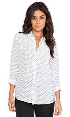 Equipment Brett Archic Prism Blouse in Bright White