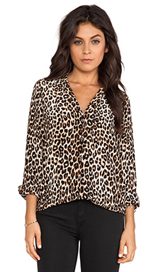 Equipment Adalyn Underground Leopard Blouse in Natural