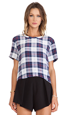 Equipment Riley Audacious Plaid Printed Tee in Luxe Multi