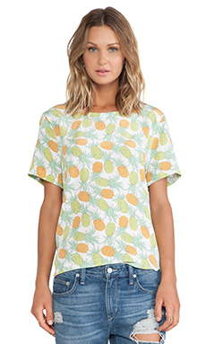 Equipment Riley Pineapple Tee in Bright White Multi
