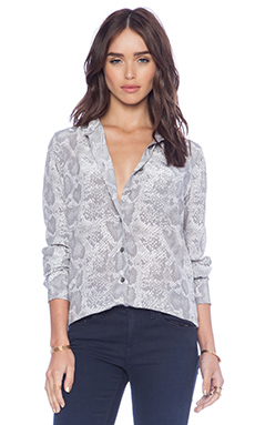 Equipment Brett Cobra Illusion Blouse in Gray