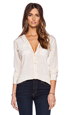 Equipment Silm Signature Bengal Blouse en Nude