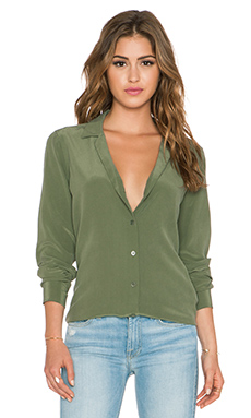 Equipment Adalyn Top in Army Jacket